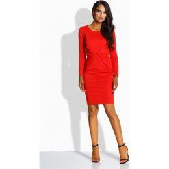 Czerwona Sukienka Ołówkowa z Dekoracyjnym Drapowaniem. Czarne sukienki mini marki Mohito, l, z dekoltem na plecach. Za 109,90 zł.