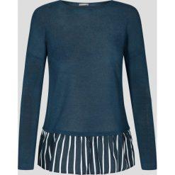 Sweter z koszulą 2-w-1. Niebieskie koszule damskie marki Orsay, s, biznesowe, z klasycznym kołnierzykiem. W wyprzedaży za 20,00 zł.