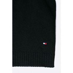 Tommy Hilfiger - Czapka. Szare czapki zimowe damskie TOMMY HILFIGER, na zimę, z bawełny. W wyprzedaży za 129,90 zł.