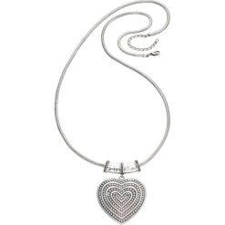 Łańcuszki damskie: Łańcuszek z wisiorem sercem bonprix srebrny kolor
