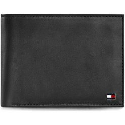 Duży Portfel Męski TOMMY HILFIGER - Eton Cc And Coin Pocket AM0AM00651 Black 002. Czarne portfele męskie TOMMY HILFIGER, ze skóry. Za 299,00 zł.