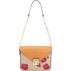 Torebki klasyczne damskie: Skórzana torebka w kolorze taupe – (S)20 x (W)18 x (G)6 cm