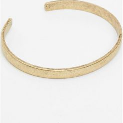 Bransoletki męskie: Złota metalowa bransoletka bez zapięcia