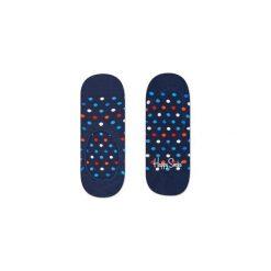 Skarpetki Happy Socks - Dot Liner (DOT06-6000). Niebieskie skarpetki męskie Happy Socks, w kolorowe wzory, z bawełny. Za 27,90 zł.