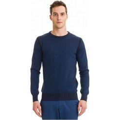 Galvanni Sweter Męski Halle L, Ciemnoniebieski. Niebieskie swetry klasyczne męskie GALVANNI, l, w paski, z wełny. W wyprzedaży za 299,00 zł.