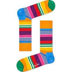 Happy Socks - Skarpety Multi Stripe. Brązowe skarpetki męskie marki NABAIJI, z elastanu. Za 39,90 zł.