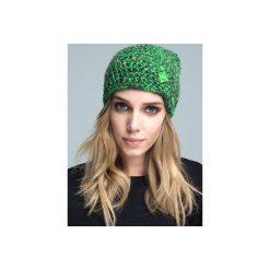 Czapka hauer KRAFF GREEN hand made. Czarne czapki zimowe damskie marki Hauer, z nadrukiem, z polaru. Za 109,00 zł.