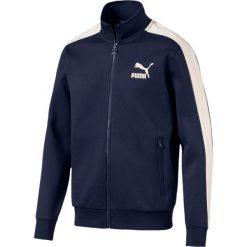 Bluza dresowa z zamkiem. Niebieskie kardigany męskie Puma, l, z bawełny, sportowe. Za 305,76 zł.