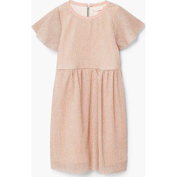 aac22e4a29 Mango Kids - Sukienka dziecięca Origami 110-152 cm - Szare sukienki ...