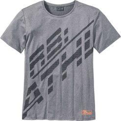 T-shirty męskie z nadrukiem: T-shirt funkcyjny Slim Fit bonprix szary melanż z nadrukiem