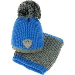 Czapka dziecięca z kominkiem CZ+k 046E niebiesko-szara r. 46-48. Niebieskie czapeczki niemowlęce Proman. Za 62,00 zł.
