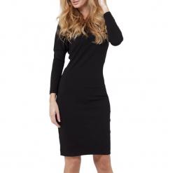 Sukienka w kolorze czarnym. Czarne długie sukienki marki YULIYA BABICH, xs, z długim rękawem. W wyprzedaży za 189,95 zł.