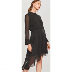 Sukienka w drobny wzór - Wielobarwn. Czarne sukienki marki bonprix. W wyprzedaży za 79,99 zł.