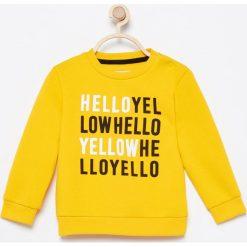 Żółta bluza - Żółty. Czarne bluzy niemowlęce marki bonprix, moro. Za 39,99 zł.