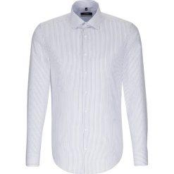 Koszule męskie na spinki: Koszula – X-Slim – w kolorze biało-niebieskim