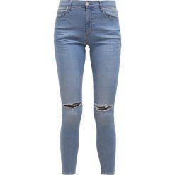 Topshop LEIGH Jeans Skinny Fit blaugrau. Niebieskie jeansy damskie relaxed fit marki Topshop, z bawełny. W wyprzedaży za 148,85 zł.