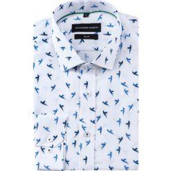 Koszula SIMONE slim KDWS000486. Szare koszule męskie na spinki marki S.Oliver, l, z bawełny, z włoskim kołnierzykiem, z długim rękawem. Za 169,00 zł.