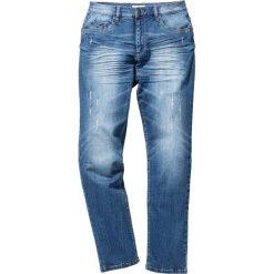 """Dżinsy ze stretchem Slim Fit Straight bonprix niebieski """"used"""". Niebieskie rurki męskie bonprix, z jeansu. Za 109,99 zł."""