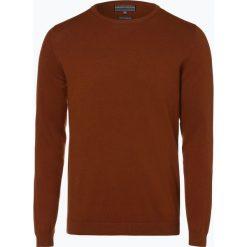 Finshley & Harding - Sweter męski, brązowy. Brązowe swetry klasyczne męskie Finshley & Harding, l. Za 129,95 zł.