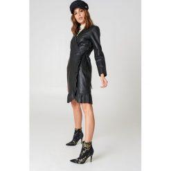 Sukienki: Just Female Skórzana sukienka Zeus – Black