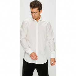 Tommy Hilfiger Tailored - Koszula. Szare koszule męskie na spinki marki S.Oliver, l, z bawełny, z włoskim kołnierzykiem, z długim rękawem. Za 299,90 zł.