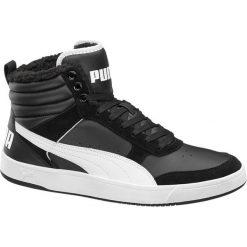 Buty męskie Puma Rebound Street V2 Puma czarno-białe. Czarne buty sportowe męskie marki Nike, z materiału, nike tanjun. Za 279,90 zł.