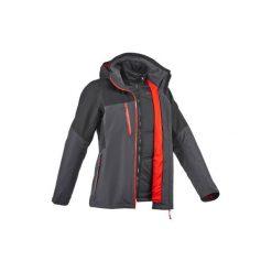 Kurtka trekkingowa Rainwarm 500 3 w 1 męska. Szare kurtki męskie marki Burton Menswear London, m, z materiału. Za 349,99 zł.