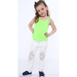 Odzież dziecięca: Koszulka dziewczęca na podwójnych ramiączkach fluo zielona NDZ7772