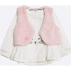 Blukids - Bluzka + bezrękawnik dziecięcy 68-98 cm. Szare bluzki dziewczęce bawełniane Blukids, z nadrukiem. W wyprzedaży za 59,90 zł.