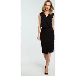 Sukienka z drapowaniem moe395. Czarne sukienki balowe marki Moe, do pracy, s. Za 149,00 zł.