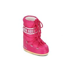 Śniegowce Dziecko Moon Boot  MOON BOOT NYLON. Niebieskie kozaki dziewczęce marki Timberland, z gumy. Za 349,00 zł.
