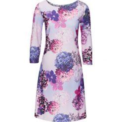 Sukienki: Sukienka bonprix bez – dymny jasnoróżowy z nadrukiem