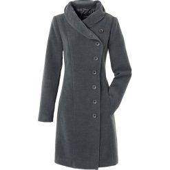 Płaszcz bonprix antracytowy melanż. Szare płaszcze damskie pastelowe bonprix, melanż. Za 189,99 zł.