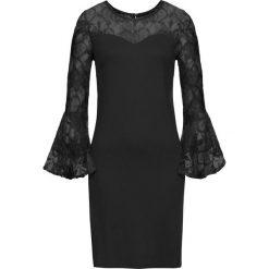 Sukienki: Sukienka z dżerseju z rozkloszowanymi rękawami bonprix czarny