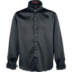 KuroNeko Shinny Victorian Blouse Koszula czarny. Czarne koszule męskie marki KuroNeko, l, z falbankami, z długim rękawem. Za 99,90 zł.