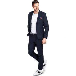 f68e89ea8420c Garnitur LEONARDO GAGS000157. Niebieskie garnitury męskie Giacomo Conti,  bez wzorów, z elastanu.