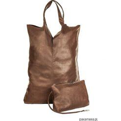 Torebki i plecaki damskie: Torba skórzana z kosmetyczką CHOCOLATE LOOK