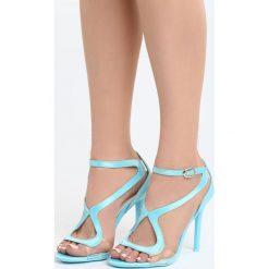 Niebieskie Sandały City Ligts. Niebieskie sandały damskie Born2be, z materiału, na wysokim obcasie, na obcasie. Za 89,99 zł.