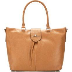 Torebka damska 87-4E-206-9. Brązowe torebki klasyczne damskie Wittchen, w paski. Za 519,00 zł.