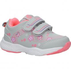 Szare buty sportowe na rzepy z kwiatkami Casu F-708. Szare buciki niemowlęce marki Casu, na rzepy. Za 59,99 zł.