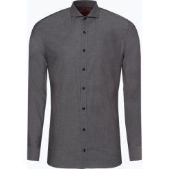 Finshley & Harding - Koszula męska, szary. Szare koszule męskie na spinki marki S.Oliver, l, z bawełny, z włoskim kołnierzykiem, z długim rękawem. Za 129,95 zł.