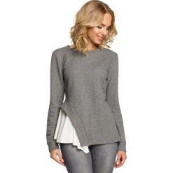 Bluzki, topy, tuniki: Dwuwarstwowa bluzka z asymetrią - szara
