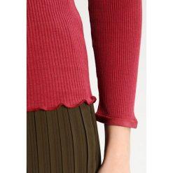 Bluzki asymetryczne: Rosemunde Bluzka z długim rękawem maroon