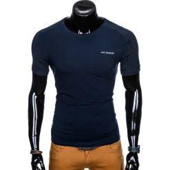 T-SHIRT MĘSKI Z NADRUKIEM S960 - GRANATOWY. Niebieskie t-shirty męskie z nadrukiem Ombre Clothing, m. Za 19,99 zł.