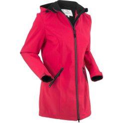Płaszcze damskie: Płaszcz softshell ze stretchem i kapturem bonprix czerwień granatu