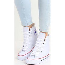 Sneakersy damskie: Białe Sneakersy Yvonne