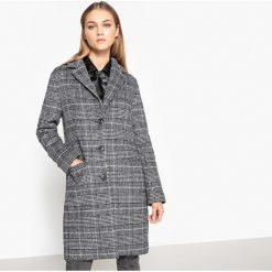 Płaszcz w stylu księcia Walii 40% wełna. Szare płaszcze damskie wełniane La Redoute Collections, m, w kratkę. Za 433,44 zł.