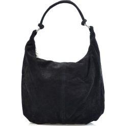 """Torebki klasyczne damskie: Skórzana torebka """"Sabrina"""" w kolorze czarnym – 34 x 40 x 13 cm"""