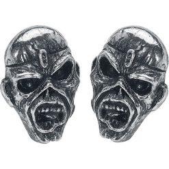 Iron Maiden Piece Of Mind Kolczyki - Earpin srebrny. Szare kolczyki damskie Iron Maiden, srebrne. Za 74,90 zł.