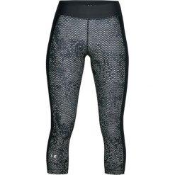 Spodnie w kolorze czarnym ze wzorem. Bryczesy damskie marki Under Armour, xs, z materiału. W wyprzedaży za 114,95 zł.